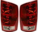 Tail Light Assembly Compatible with 2002-2006 Dodge Ram 1500/2003-2006 Dodge Ram 2500 3500 Halogen Clear & Red Lens With circuit board Set of 2 Passenger and Driver Side