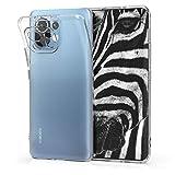 kwmobile Cover Compatibile con Xiaomi Mi 11 - Custodia in Silicone TPU - Back Case Protezione Posteriore - Trasparente
