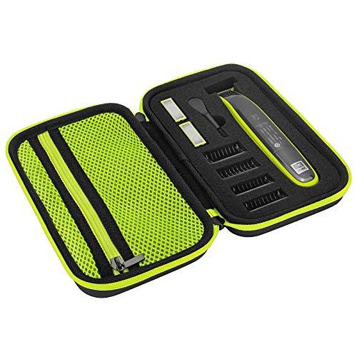 Custodia per Philips OneBlade QP2520, QP2530, QP2620, QP2630, Custodia rigida in EVA con spugna, Cover protettiva per One Blade, Verde
