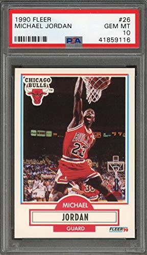 Michael Jordan PSA GRADED 10 (Basketball Card) 1990-91 Fleer - [Base] #26