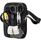 First Lifesaver 4-in-1 Convertible Nurse Fanny Pack, Silver Hardware