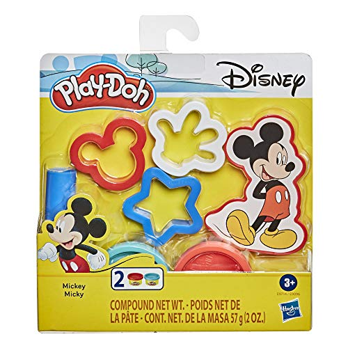 Play-Doh Disney Mickey Mouse 5-Piece Toolset for Kids 3 Years and Up with 2 Non-Toxic Colors