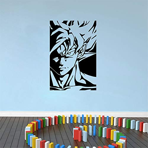 Dragon Ball Tatuajes de Pared Diy Wallpaper Goku Dragon Ball Z Vinilo Etiqueta de La Pared Kids Room Personajes de Anime Japonés Calcomanías de Arte decoración