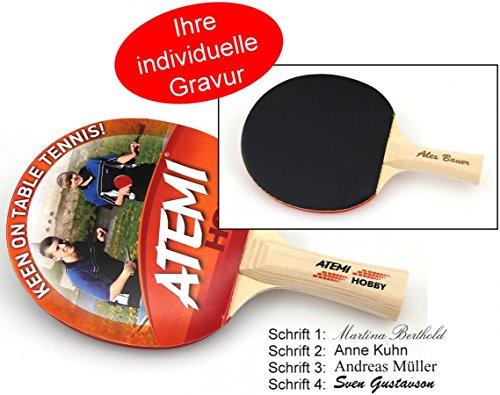 Atemi Hobby Tischtennis Schläger, Geschenk Idee mit individueller Gravur