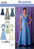Simplicity Evening Gown and Dress Sewing Pattern for Women by Karen Z, Sizes 6-8-10-12-14
