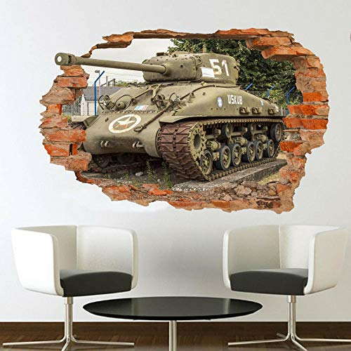 Wall Sticker Military Tank Wall Sticker 3D Art Mural Office