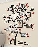 Árbol Pegatinas de Pared 3D Árbol Familia Marco de Fotos DIY Murales Stickers...