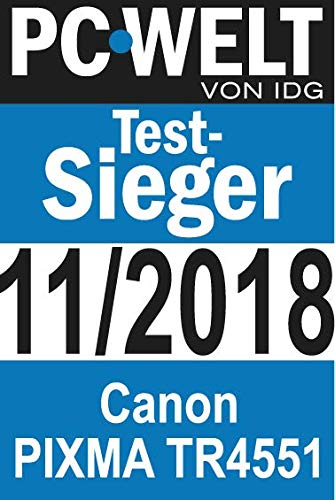 Canon PIXMA TR4551 Drucker Farbtintenstrahl Multifunktionsgerät DIN A4 (Farbdruck, Scanner, Kopierer, Fax, 4 in 1, 4.800 x 600 dpi, USB, WIFI, WLAN, Duplexdruck, Print App) weiß