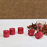 Auradecor Set of 6 Rose Fragrance Votive Candles, Burning Time Approx 5 Hours Each