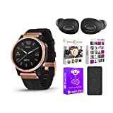 Garmin Fenix 6S Pro Sapphire Smartwatch (Rose Gold-Tone/Black Band) Performance Bundle (4 Items)