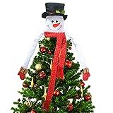 Deggodech Árbol de Navidad Topper Hugger Sombrero de Copa de Muñeco de Nieve...
