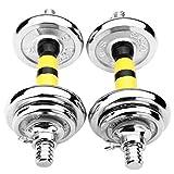 SKK Capacitación Barra Conjunto combinación de Inicio Galvanizado Mancuernas de los Hombres de Ejercicio Fitness Equipment + Varilla Curvada Ejercicio (tamaño : 10KG)