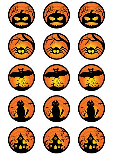 Muffinaufleger Cupcakes Muffins Halloween Zuckerpapier HW03