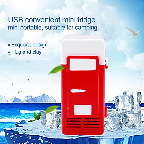 Refrigerador de cerveza, mini refrigerador portátil, 5 minutos de temperatura del refrigerador, interfaz USB, LED, mini refrigerador USB, refrigerador portátil, enfriador y(red)