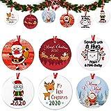 2020 redondos colgante árbol navidad 6 pcs kit de decoración navideña adornos colgantes de navidad,para decoración del árbol de navidad kit de decoración navideña personalizado regalo creativo