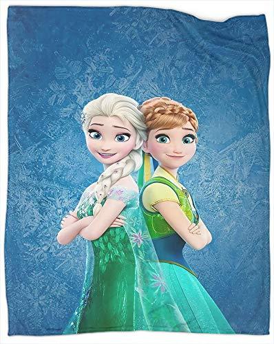 Manta decorativa extra suave con diseño de Frozen Movie Decoraciones de Navidad Año Nuevo Regalos para el sofá de la cama, tamaño completo 177,8 x 228,6 cm