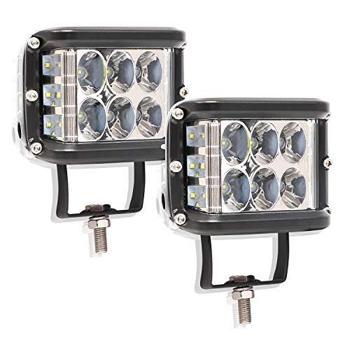 Luz LED Barra de luces 2 piezas 36W Luces de trabajo Luces de spot Luces de manejo para todo terreno Luces de respaldo de marcha Parrilla de parachoques Parachoques Lámparas para camión Polaris ATV UT