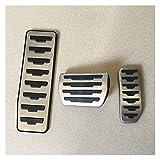 Pedales accesorios de coche para Land Rover, Range Rover Evoque/Discovery Sport AT Auto freno reposapiés de pedal pegatinas de estilo (juego completo de 3 piezas)