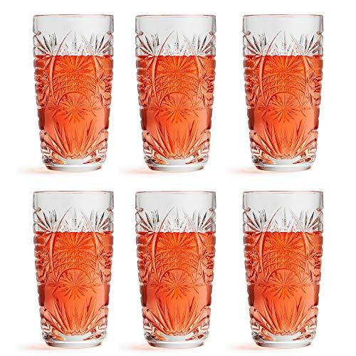 Libbey Copa longdrink Glas Atik – 270 ml / 27 cl – 6 Piezas – Apto para lavavajillas – diseño Vintage – Calidad Alta