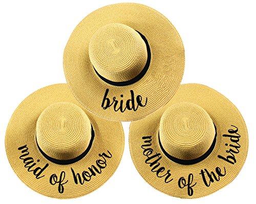 Bridal Sun Hat Bundle - Bride, Maid of Honor, Mother of The Bride