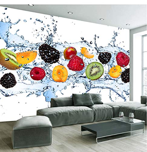 Mural Fotográfico Mural no tejido papel tapiz 3D panorámico foto de fruta fresca Impresión en HD tapiz personalizado foto cartel de pared