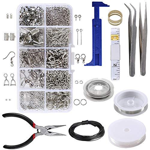 Kit per la creazione di gioielli, kit di riparazione di gioielli, kit di accessori per collane fai da te, orecchini, bracciali, ciondoli