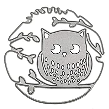 Branch Owl Lace Metal Cutting Dies Stencils Die Cuts for Card Making Scrapbooking Decorative Embossing Handcraft Die Cutting Template