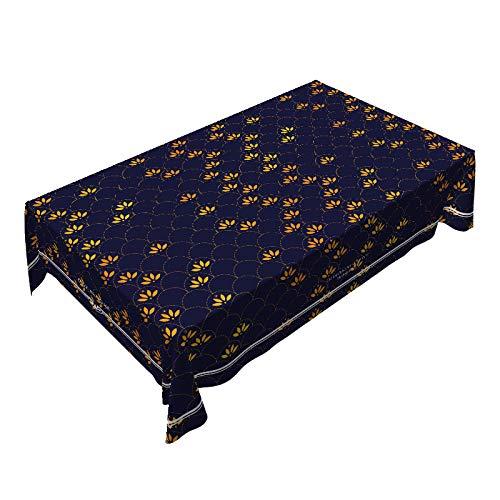 KBG - Mantel de mesa de centro de estilo chino impermeable y resistente al aceite, antiincrustaciones, tela de escritorio cuadrada china de algodón y lino