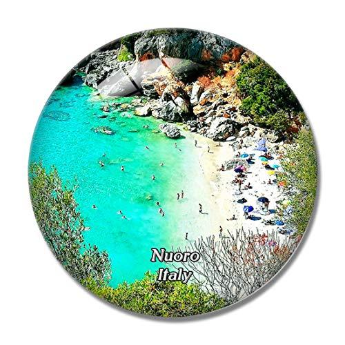 Nuoro Italy Cala Fuili Beach - Magnete per frigorifero 3D Cala Fuili, in cristallo