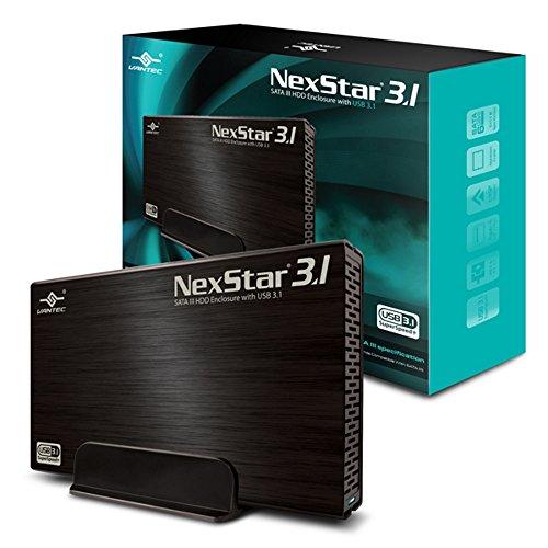 Vantec 3.5' SATA 6 Gb/s to USB 3.1 Gen II Type-A HDD Enclosure (NST-370A31-BK)