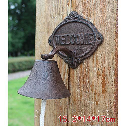 Antieke deurbel creatieve boomhuisstijl Elbow welkom deur klassieke gietijzer welkom brief ijzer deurbel diner bel buiten tuindecoratie stijlvolle en prachtige decoratie