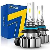 ZonCar H10 Led Fog Light Bulbs, 5000 Lumens 9145 9140 Fog Light Bulbs 6000K Xenon White Super Bright Led Fog Light Replacement Bulbs for Cars 13W High Power IP67 Waterproof Fog Lamp Bulbs, Pack of 2