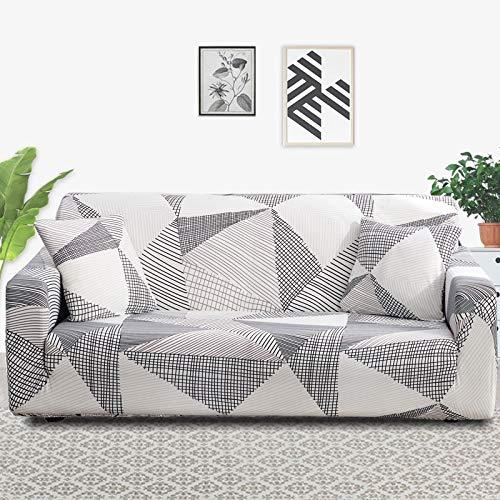 ASCV Funda de sofá elástica Fundas elásticas Funda de sofá Todo Incluido para Diferentes Formas Sofá Loveseat Silla L-Style Funda de sofá A4 2 plazas