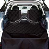 KULULU SUV Cargo Liner for Dogs, Heavy Duty Waterproof Non Slip Durable Liner, Mesh Window for Stress Free Travel, Pet Cargo Cover with Bumper Flap Protector, Universal Fit 55' W X 93' L