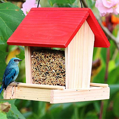 cuckoo-X Al Aire Libre Colgante de Aves Silvestres alimentador de Aves a Prueba de Lluvia Caja para jardín Patio decoración balcón
