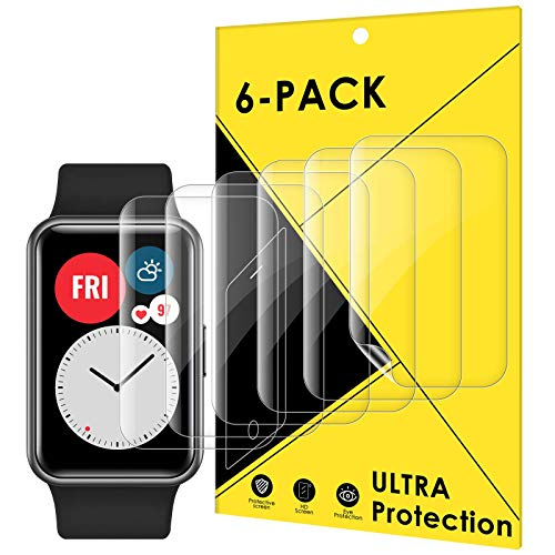 CAVN Protector Pantalla compatible con Huawei Watch Fit/HONOR Watch ES, 6 Piezas cobertura completa flexible protector pantalla, protector pantalla ultra transparente para Huawei Watch Fit