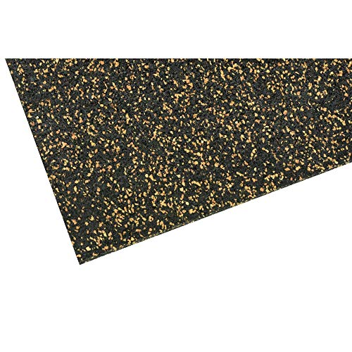 acerto 40427 Unterlegmatte für Fitnessgeräte ✓ Unterlage 100x105cm (5mm) ✓Erhöhte Stabilität ✓ Robuster Fußbodenschutz ✓ rutschfeste Bodenmatte, Multifunktions-Matte | Bodenbelag für den Fitness-Raum