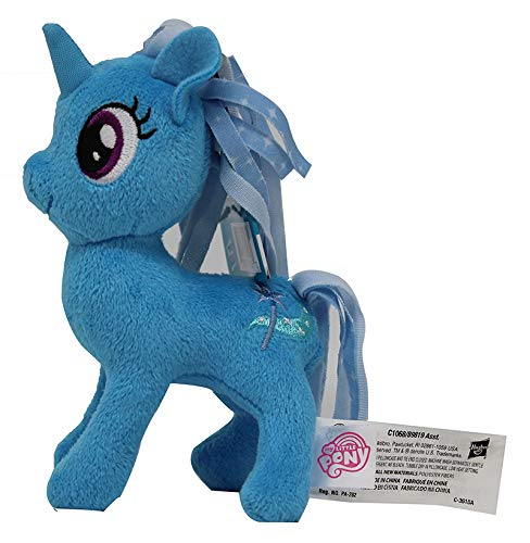 MLP My Little Pony cavallo peluche 12cm, pupazzo per bambini (Trixie Lulamoon, blu)