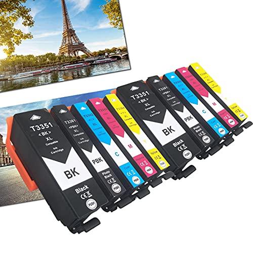 OGOUGUAN 33 XL - Cartuchos de tinta compatibles con Epson Expression Premium XP-530 XP-540 XP-630 XP-635 XP-640 XP-645 XP-830 XP-900 (10 paquetes)