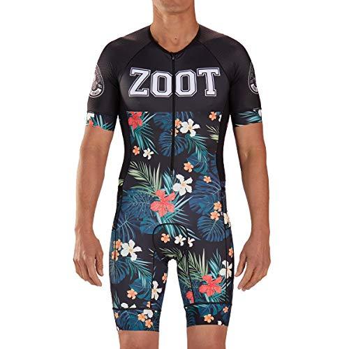 Zoot Combinaison de Course de Triathlon pour Hommes Aero Style 83 avec Manches, éléments réfléchissants, SPF 50+, Deux Poches arrière et Une Fermeture éclair de 22,8 cm sur Le Devant Taille M