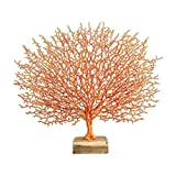 Gazechimp Resina Coral Escultura Adorno de Decoración Estatuilla de - Naranja, Individual