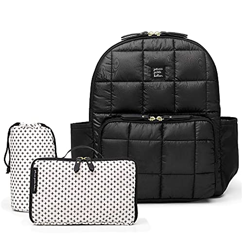 Mochila para carrito District Backpack – Black- Incluye cambiador, portabiberones térmico, neceser y estuche para toallitas. Petunia Pickle Bottom