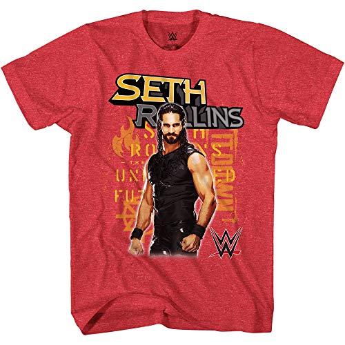 WWE Camiseta de Seth Rollins para niños – Burn It Down Superstar Tee – Campeón...