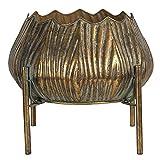 MAISONICA Maceta en soporte de metal de color cobre redondo