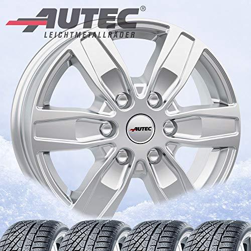 4 ruedas de invierno Autec Quantro 7x17 ET55 5x160 plata brillante con 235/55R17 103V XL Hankook Winter i*cept evo3 X W330A para Ford Custom /2020/
