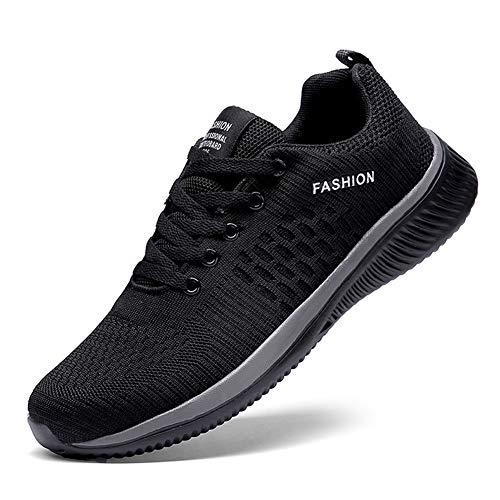 TAZAN Chaussures de mode pour hommes Casual, Chaussures pour hommes Baskets Hommes Noir Chaussures respirantes 2019 Baskets Hommes Gris Vert Rouge 35-47EU,Gris,38