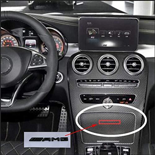 GWQNB 83mm Letter Emblem Abzeichen Interieur Mittelkonsole Logo Auto Styling ZubehöR 3D Aufkleber FüR Mercedes Benz Amg C E Glk Gla,Silver