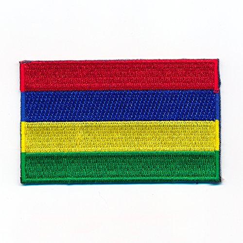 30 x 20 mm Mauritius Rodrigues Port Louis Flagge Aufnäher Aufbügler 1018 Mini