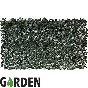 Barrière en feuilles d'érable artificielles attachées à une clôture en saule extensible - 2 x 1 m