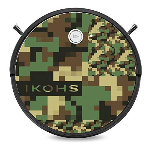 IKOHS NETBOT S15 - Robot aspirateur 4 en 1, Navigation intelligente, Silencieux, 5 Modes de nettoyage, Puissant, Automatique, Convient Pour les Poils d'animaux, WIFI (Netbot s15 / Camo print)